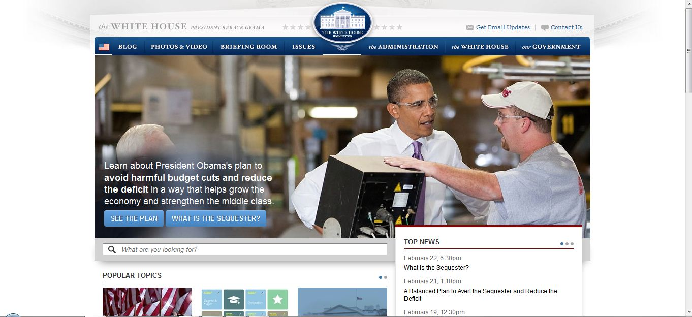 Livres Blancs: Télécharger gratuitement Drupal 7 pour créer un site web comme celui de la maison blanche...