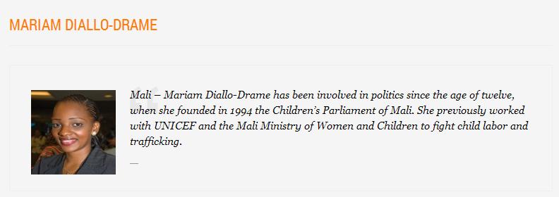 YALI Mariam Diallo Dramé