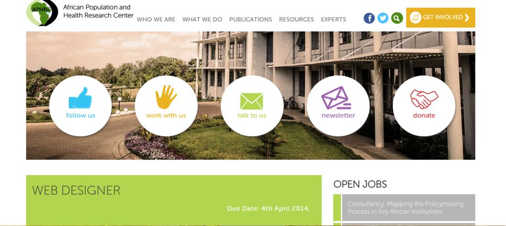 Offres & Opportunités: Webdesigner recherché pour un poste au Kenya...